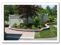 A Wall, A Walkway, and a New Lawn - www.greatscottlandscaping.com
